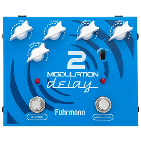 Pedal De Efeito Para Guitarra Fuhrmann Modulation Delay 2 Nf