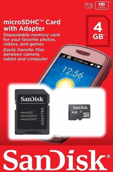 Cartão De Memória Sandisk Micro Sd 4gb Original