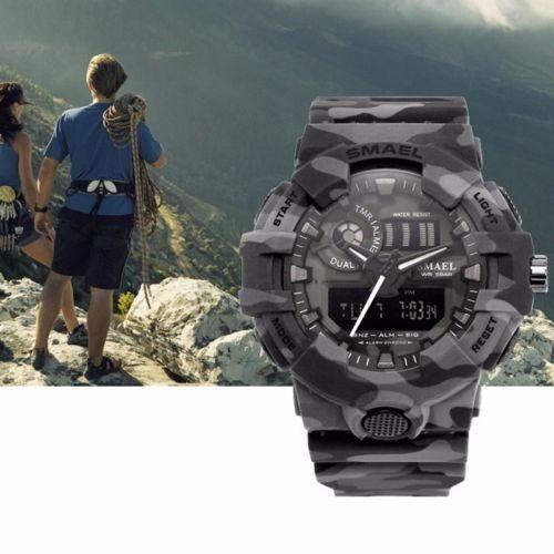 Relógio De Pulso Esportivo Militar Camuflado A Prova D
