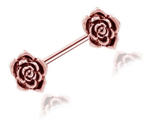 Piercing Para Pezón, Diseño De Flores De Rosa, Para Mujer