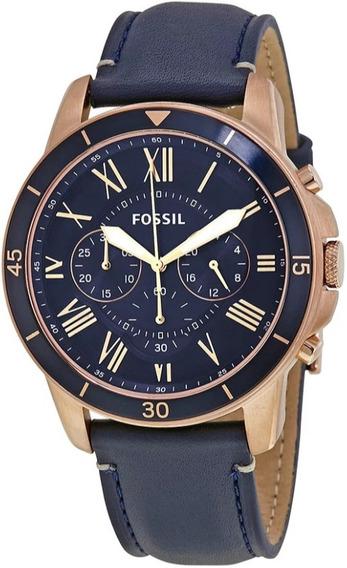 Reloj Fossil Fs5237 Correa De Cuero - 100% Nuevo Y Original