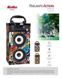 Bafle Parlante Portatil Bluetooth Micro Sd Kpm-275