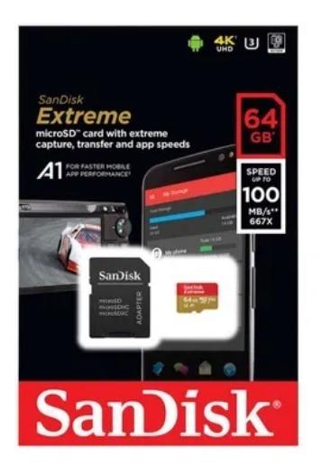 Cartão Micro Sdxd Extreme 64gb U3 / A2 - Sandisk