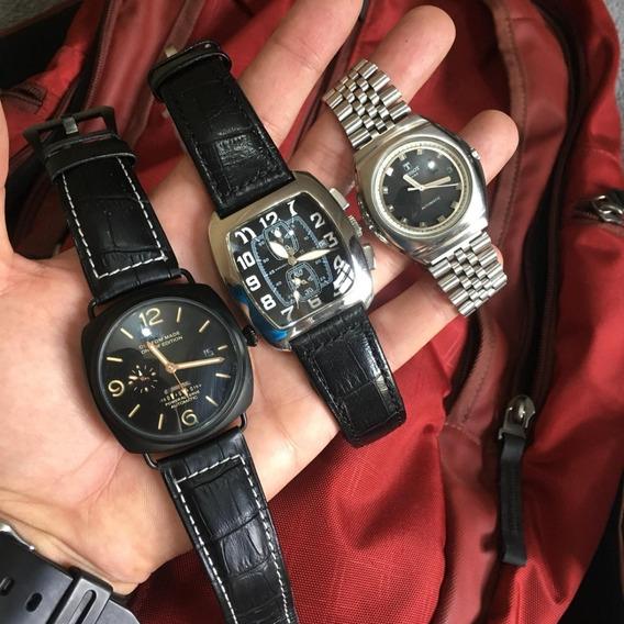 Lote De 3 Relógios De Coleção : 2 Automáticos E 1 Quartz