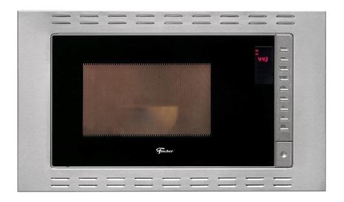 Microondas Fischer FIT 25873   aço inoxidável e preto 25L 127V