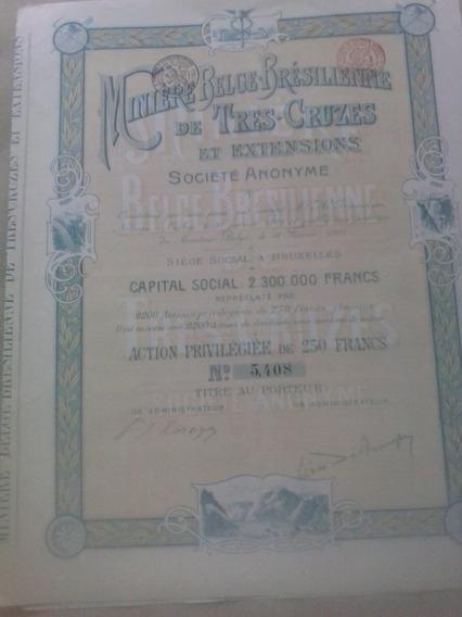 Miniere Belge-brésilienne De Tres-cruzes - 1901.