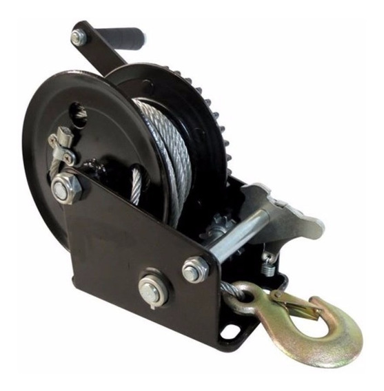 Malacate Winch Manual 1200 Lbs/540 Kg Cable 10mt Toolcraft