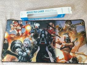 Mousepad Gamer Grande G 70x35cm Tema Overwatch