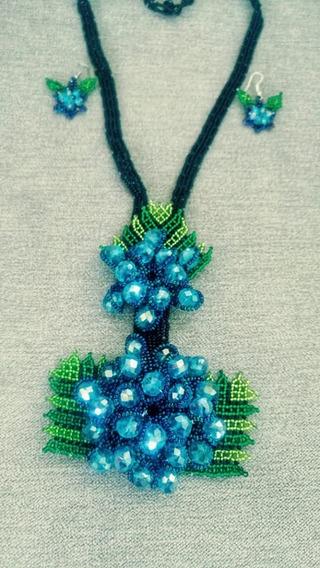 Collar Huichol Bayusas En Chaquira
