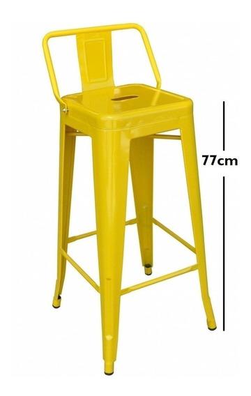 Banqueta Tolix Amarilla - Respaldo Bajo