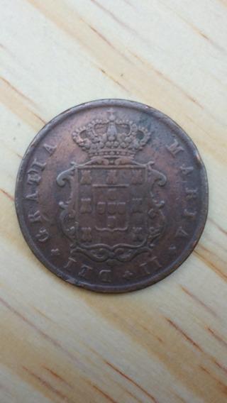 X Reis 1842 Madeira Maria Ll Raridade 25000 Cunhada S