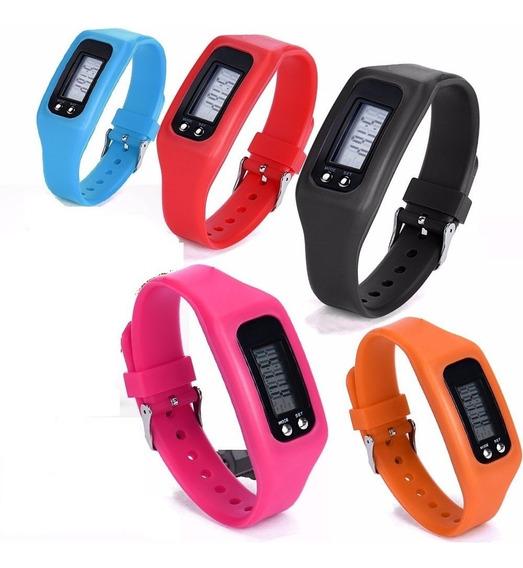 Relógio Led Digital Pedometro Bracelete Pulseira Silicone T1