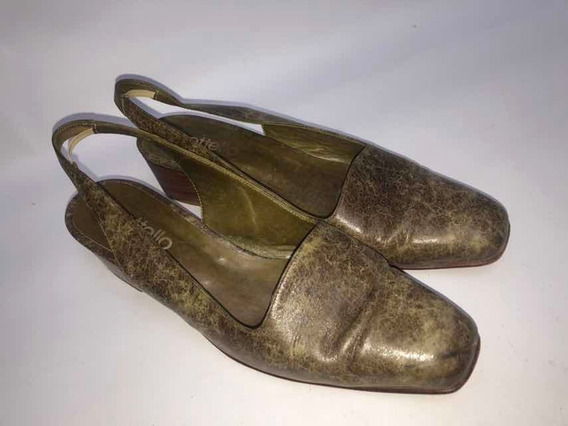 Zapatos Mujer Nro 39 Con Taco Cuero Vacuno