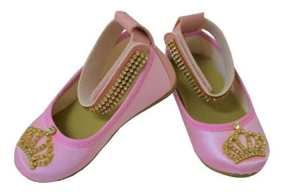 Sapato Infantil Festa Menina Branco Batizado Daminha Luxo