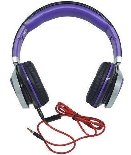 Fone Ouvido Headset Microfone P2 Estéreo Violeta