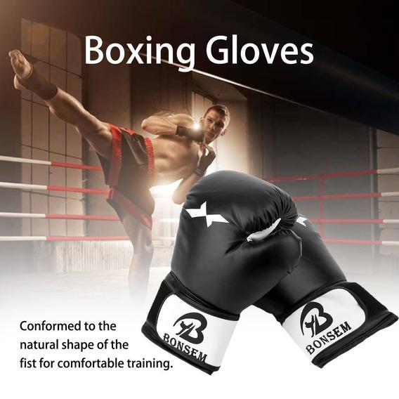 forro de esponja profesional de piel sint/ética transpirables guantes de boxeo de arena SOONHUA Guantes de boxeo de esponja de compresi/ón guantes de entrenamiento