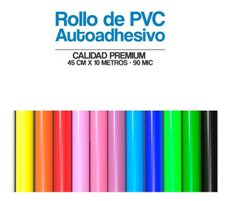 Papel Contact Autoadhesivo Colores Lisos Rollo De 0.45x10mts