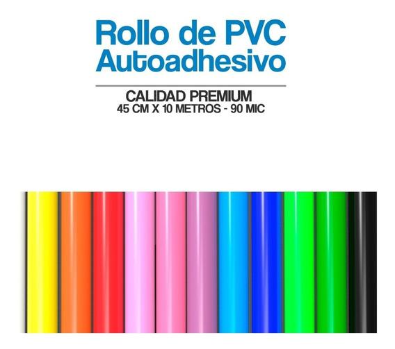 Papel Contact Autoadhesivo Colores Lisos Rollo De 0.45x10mts