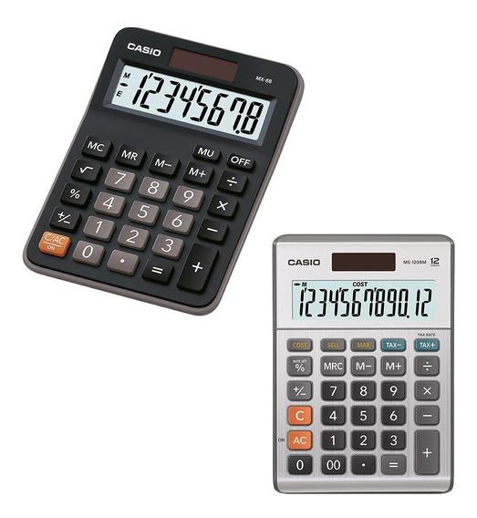 Paquete 2 Calculadoras Casio Ms-120bm + Mx-8b