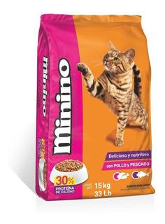 Minino Alimento Para Gato Bulto 15 Kg
