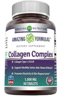 Collagen Complex I, Ii, Iii 1000 Mg 90 Tab Amazing Formulas