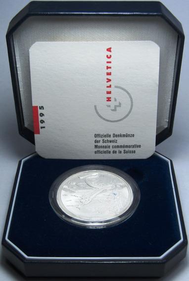 Suiza Estuche Moneda 20 Francos 1995 Plata Serpiente Proof