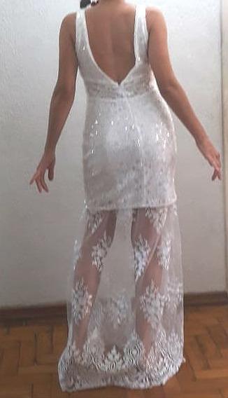 Vestido Noiva Renda Tule Bordado Paetês Decote Ensaio Pré We
