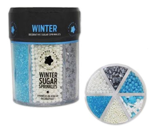 Imagen 1 de 1 de Sprinkles Perlas Wonder Bake 210grs. Muchos Colores / Lauacu