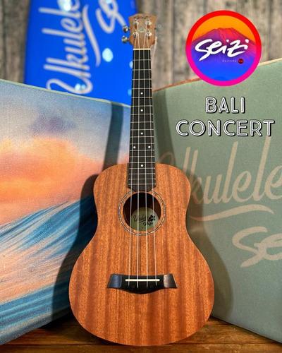 Ukulele Seizi Bali Concert Elétrico Sapele
