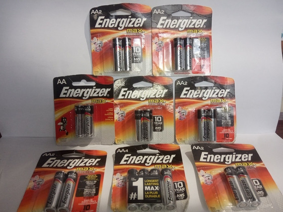 Pilas O Baterias Energizer Blister De 2 Y 4 Unidades