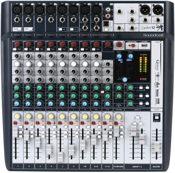 Mesa De Som Mixer Soundcraft Signature 12 Canais Original