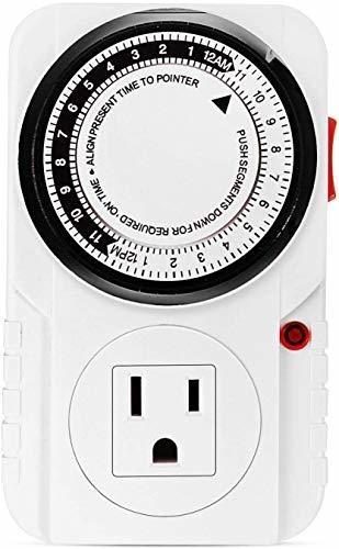 Temporizador Mecanico Enchufables 24 Hrs Interruptor Program