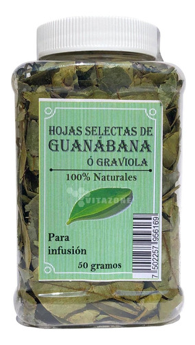 Imagen 1 de 2 de Guanabana Hojas 50 Grs 100% Naturales