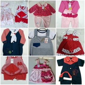 Lote 10 Roupas De Bebê Vestidinhos Macacão Conjuntos