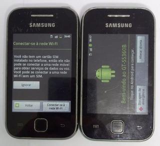 Samsung Galaxy Y Gt-s5360b Cinza Original Semi Novo