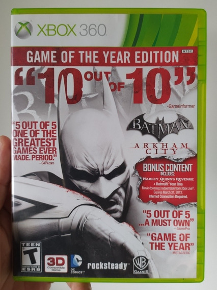 Batman Arkham City Game Of The Year Editio Original Xbox 360