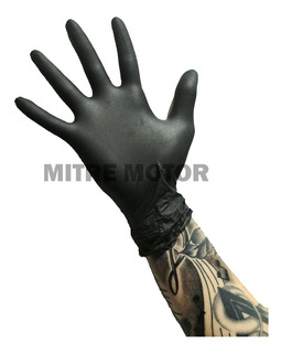 Guantes Negros Nitrilo Aisla Combustible + Resistentes!