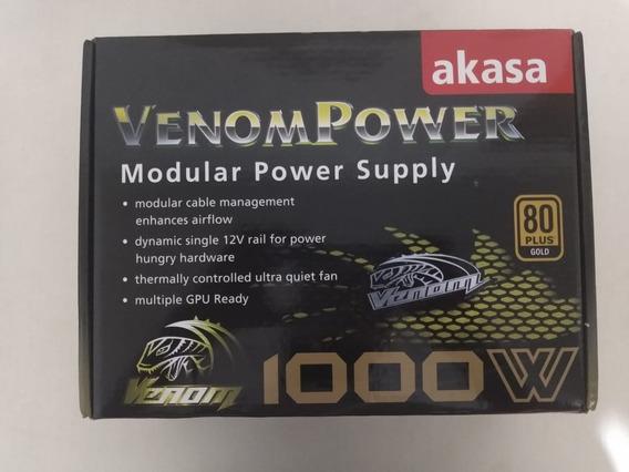 Fonte Akasa 1000w 80 Plus Gold