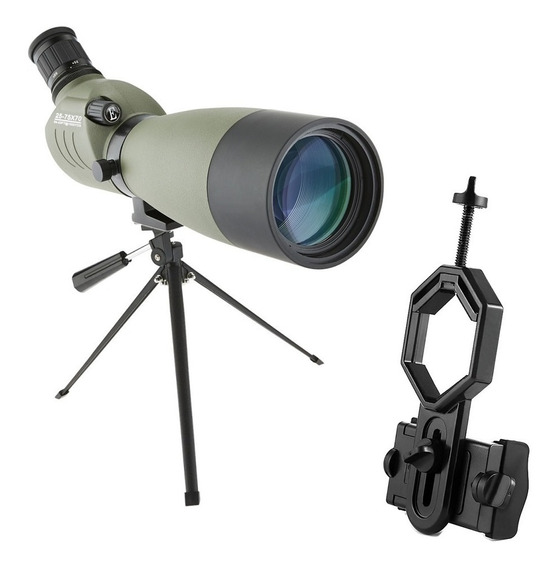 Luneta Skylife Tactical 25-75x70 Wp + Adaptador Celular Adtx Spotting Scope Tiro Telescópio Alto Padrão De Qualidade