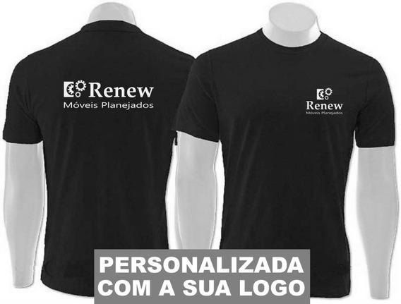 10 Camisetas Personalizadas Uniforme Empresa Malha Fria Pv