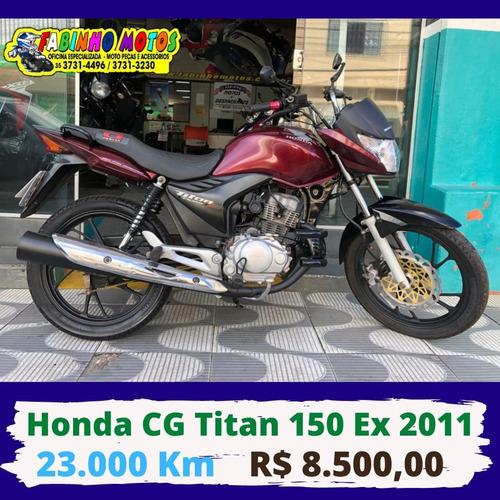 Honda Cg 150 Titan Ex 2011 Vermelha Novíssima!!!
