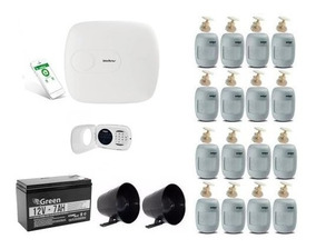 Intelbras Kit Alarme - Amt1016 Net /16 Sensores/ Xat3000 Led