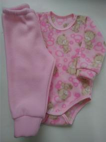 Conjunto De Body Microsoft Menina Calça Roupa De Bebê Pijama