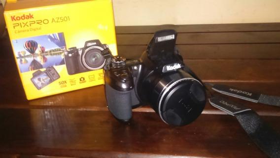 Maquina Fotografica Kodak Az 501 Completa Seminova