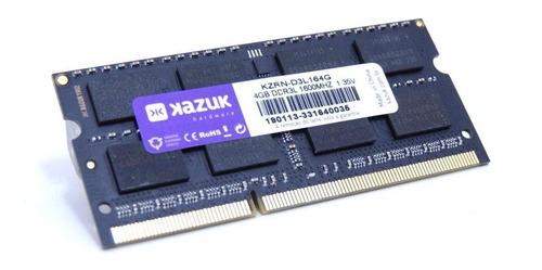 Imagem 1 de 4 de Memória 4gb Notebook Kazuk - 1600 Mhz Ddr3l Ram Kzrn-d3l164g