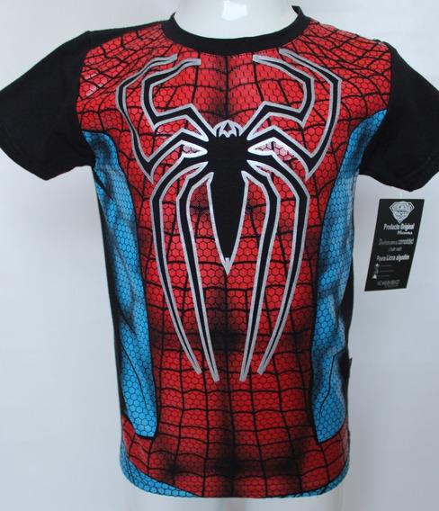 Playera Niño Spiderman Hombre Araña Superhéroes Disfraz