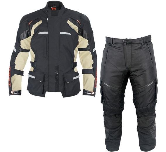 Conjunto Moto Texx Parka Force Jaqueta Calça Alpinestars Beg