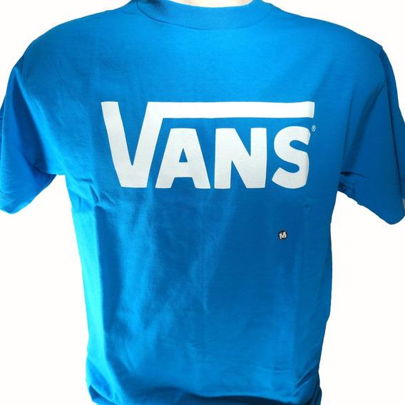 Camisa Vans Masculina Azul Original