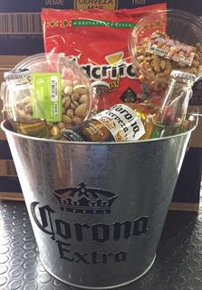 Cerveza Corona Con Balde De Zinc Original Y Snacks. Regalo