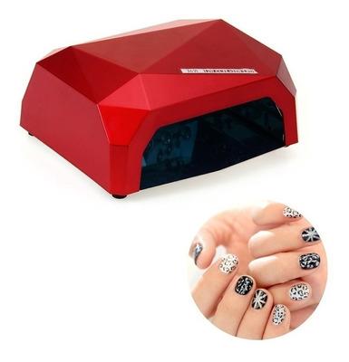 Cabina Uñas Uv + Led Diamond Híbrida Timer Sensor 36 W Semip